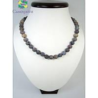 Ожерелье из матового агата