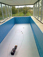 Монтаж (пайка) пленки ПВХ в бассейнах и прудах