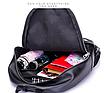 Рюкзак женский городской кожзам LAZADA с брелком, фото 7