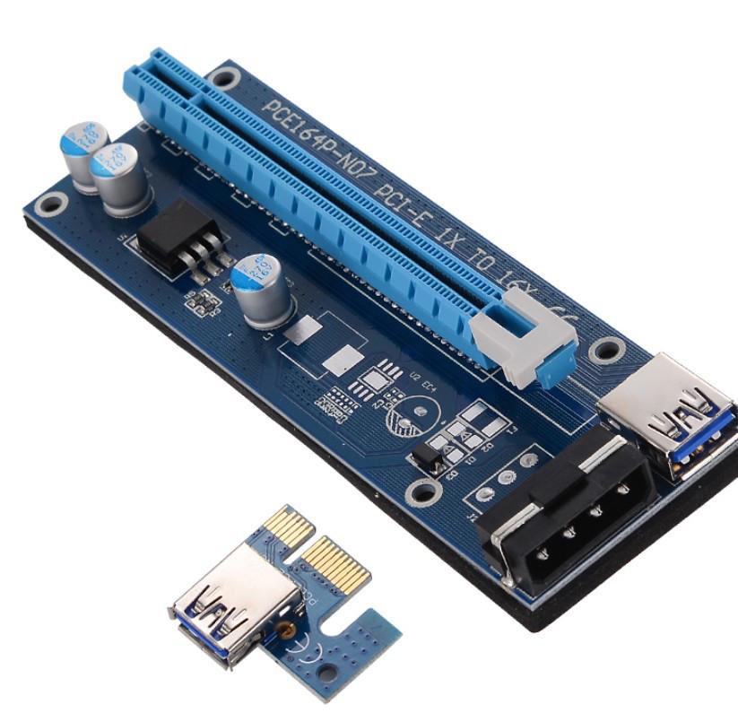 Райзер 4 pin (выносной слот для видеокарты) с подключением через PCI-E