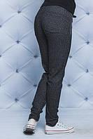 Трикотажные штаны зауженые черные