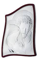 """Икона """"Святая Семья"""" полностью в серебряном окладе 50Х75 мм"""