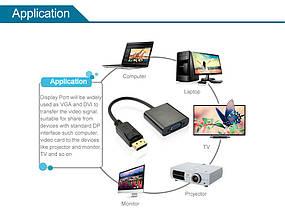 Переходник-адаптер Displayport DP to VGA, фото 3
