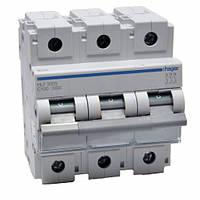 Автоматичний вимикач 100 А, 3п, С, 10 kA, Hager HLF390S