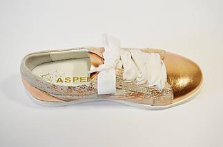 Кроссовки женские золотистые Aspena 1729, фото 3