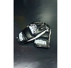 """Перчатки для MMA Lev Sport """"М4"""" кожа р.XL чёрно-белые"""