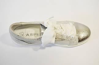 Кроссовки женские серебристые Aspena 1729, фото 2