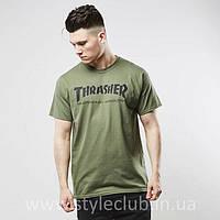Футболка Thrasher | Мужская хаки | Бирки оригинальные
