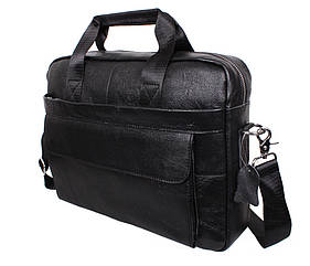 Мужская кожаная сумка Dovhani Black1115-1 Черная