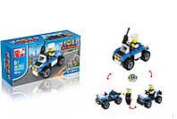 """Детский развивающий конструктор игрушка   MGB 11031 """"Полиция """" , 46 деталей, 6+ лет, конструктор для мальчиков"""