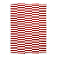 Ковер IKEA STOCKHOLM 2017 250x350 см безворсовый ручная работа полосатый белый красный 003.452.38