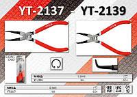 Съёмник внутренних стопорных колец загнутый L= 180мм, YATO YT-2139