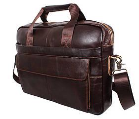 Мужская кожаная сумка Dovhani Coffee1115-2 Коричневая
