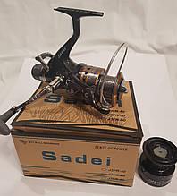 Котушка рибальська коропова Sadei J3FR-40 З БАЙТРАНЕРОМ 8+1 підшипників
