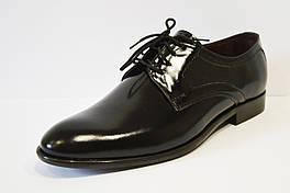 Черные кожаные туфли дерби Bucci 370
