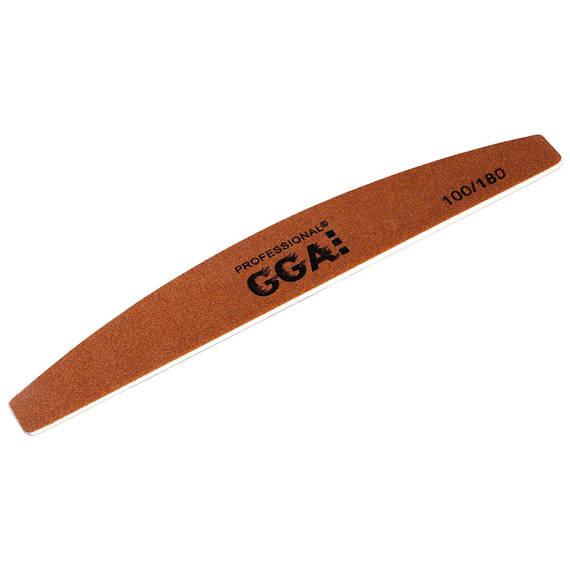 Пилка для ногтей Полумесяц Золото GGA 100/180