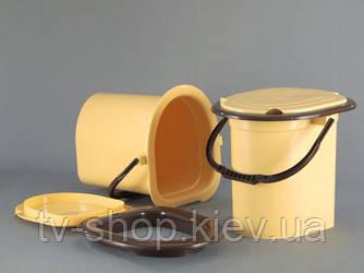 Відро-туалет з сидушкою Горизонт
