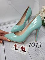 Голубые,бирюзовые,мятные туфли женские,лодочки,классические