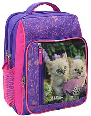 Рюкзак школьный фиолетовый Котята