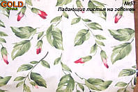 Ткань бязь Голд 147г/м2 - Падающие листья на зеленом