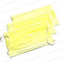 Маски медичні Одетекс на резинці (3 шарові) - 50 шт/уп, жовті