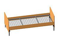 Кровать одноярусная для обжещитий ( Спинки ДСП, сварная сетка )