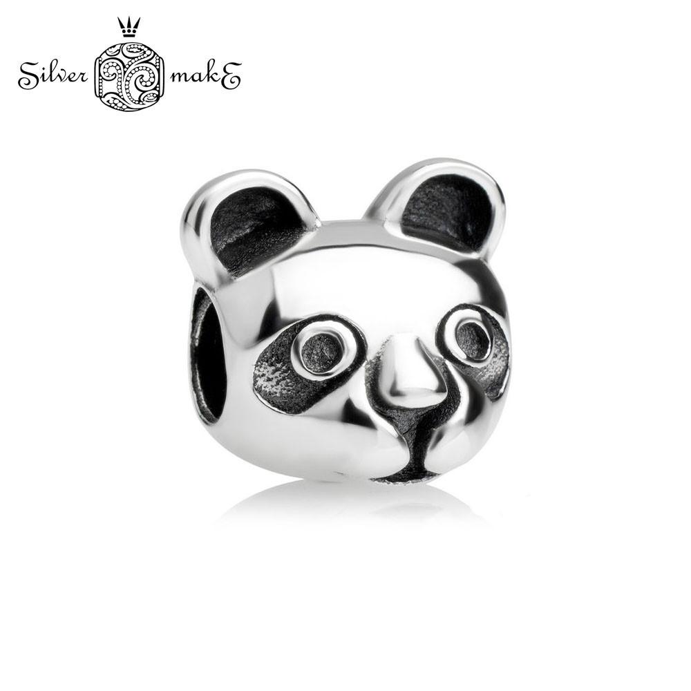 """Срібний шарм Пандора """"Панда"""""""