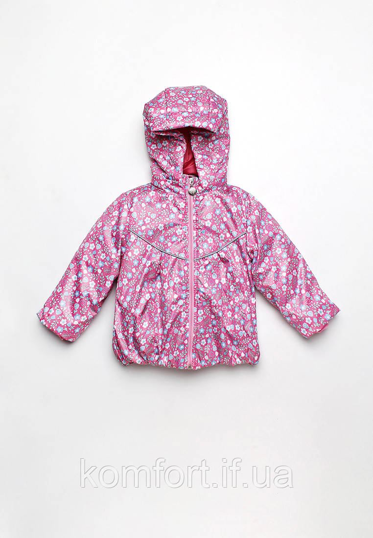 Куртка-ветровка детская для девочки цветочки