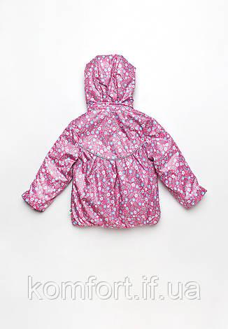 Куртка-ветровка детская для девочки цветочки, фото 2