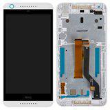 Дисплей модуль HTC Desire 626 626G в зборі з тачскріном, білий, з рамкою