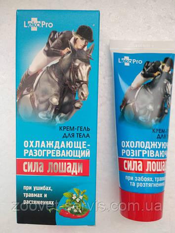 Крем-гель обезбаливающий охлаждающе - разогревающий Сила лошади 75 мл, фото 2