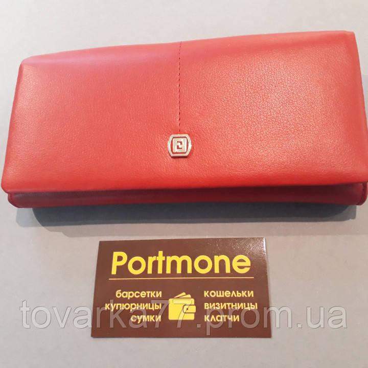 2f28dc050a8b Женский кожаный кошелек Fendi красный на магнитах классический -  Интернет-магазин