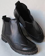 Женские черные ботинки в стиле Timberland  натуральная кожа  весна осень