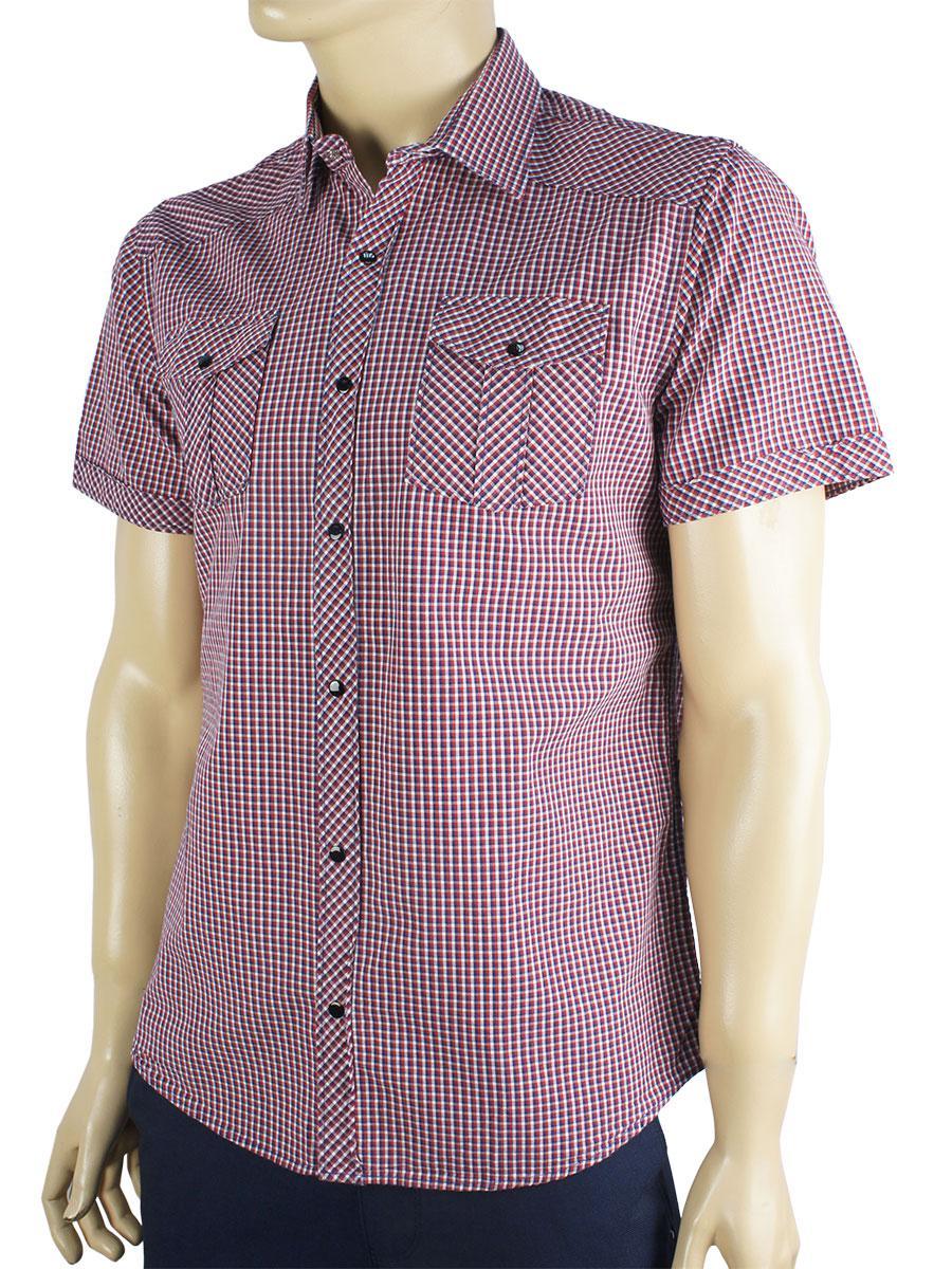 Мужская хлопковая рубашка Negredo 045 на кнопках