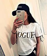 Футболка женская Vogue золотой накат