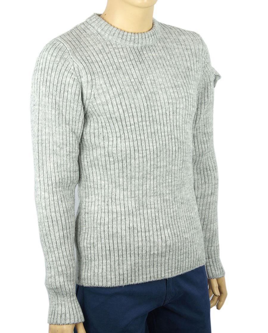 ad616d85138 Мужской вязаный свитер Comandini 0530 Н круг в сером цвете для ...