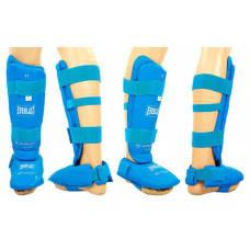 Защита ног (голень+стопа) разбирающ. с футами для единоборств PU ELS BO-3958-B(XL) (р. XL, синий)