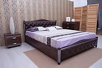 Ліжко Прованс (патина) з м'якою спинкою (ромби) 200*120 бук Олімп, фото 1
