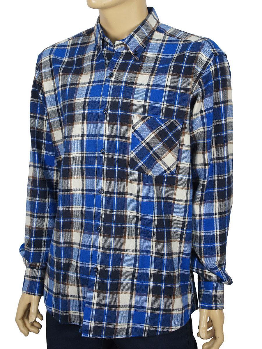 Рубашка мужская в крупную клетку Micele Placido 0310 H