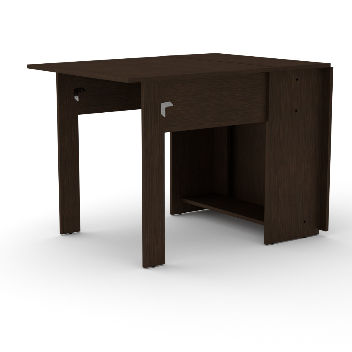 Стол книжка 1 венге темный Компанит (170х76х74 см)
