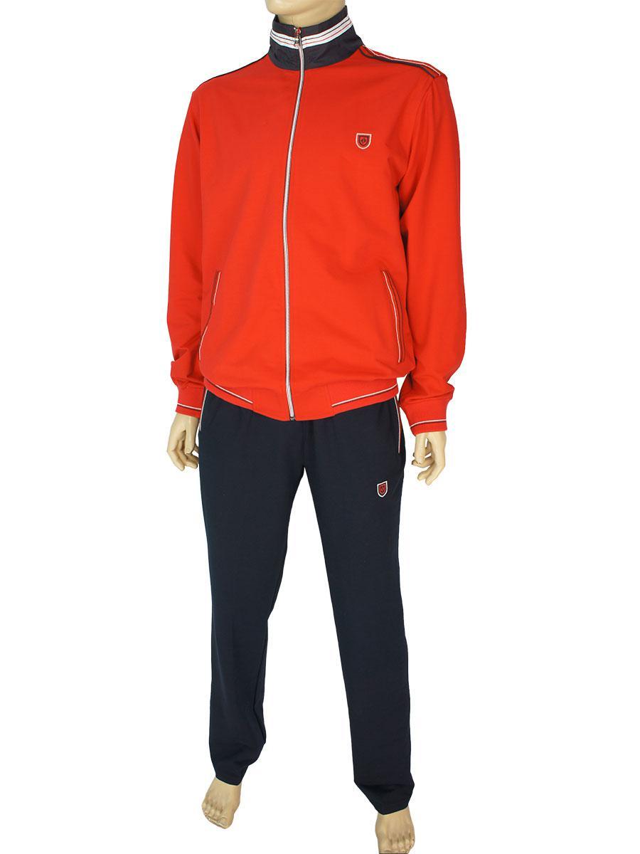 Турецкий мужской спортивный костюм Fabiani 7КЕ3Е3808 Red-Darkblue