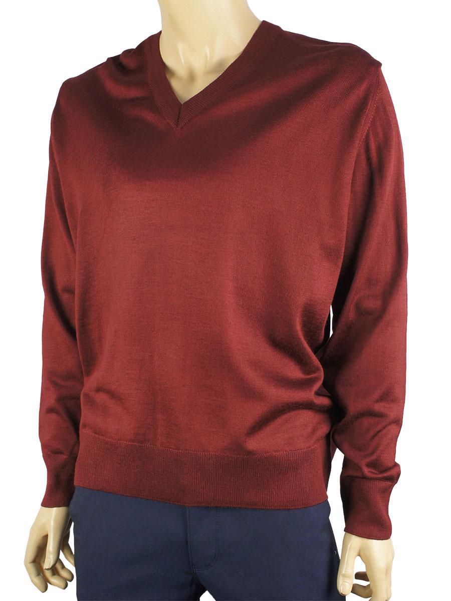 Мужской свитер Taddy 0250 Н мис в бордовом цвете