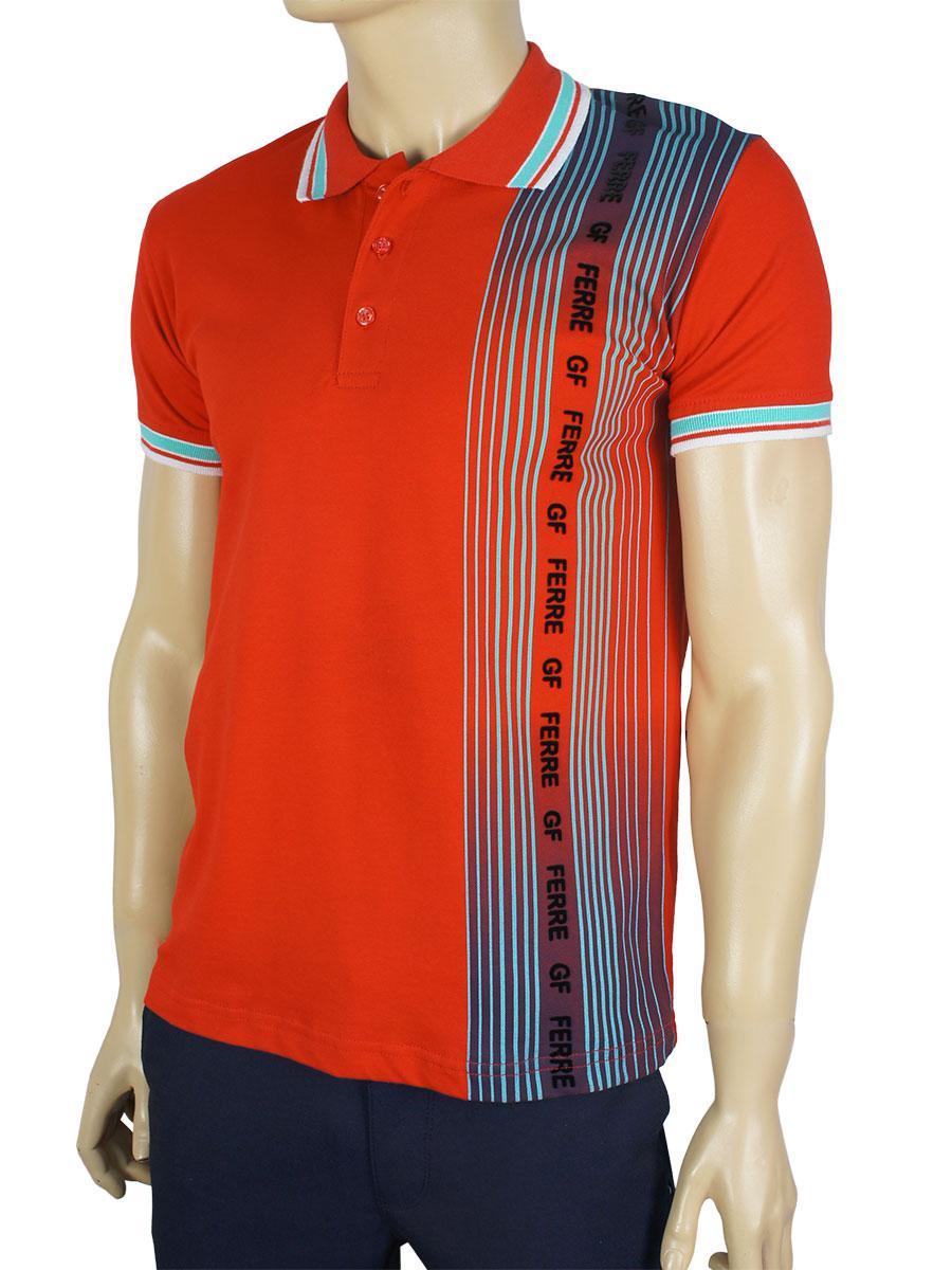 Тенниска мужская GF FERRE PC-1368 красная
