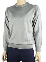 Мужской классический свитер Wool Yurt 0250 Н круг в сером цвете
