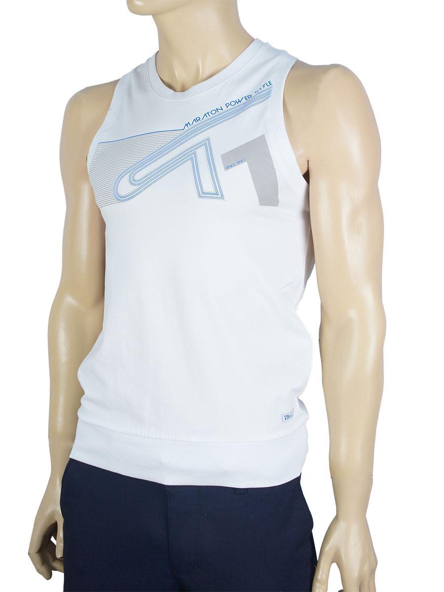 Мужская майка-борцовка Maraton m-10-61 белого цвета