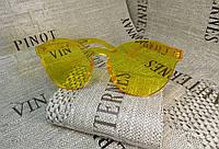 Желтые очки без оправы