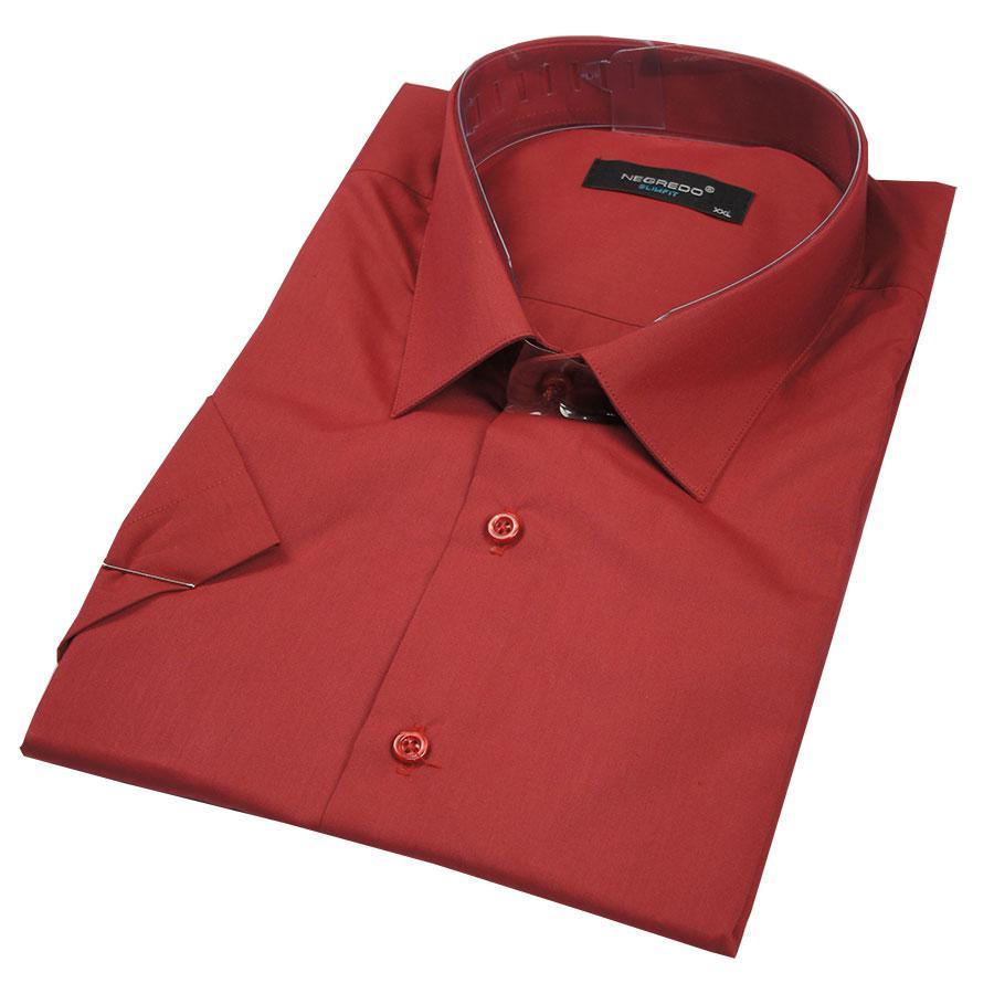 Рубашка Negredo 26057 Slim вишневая