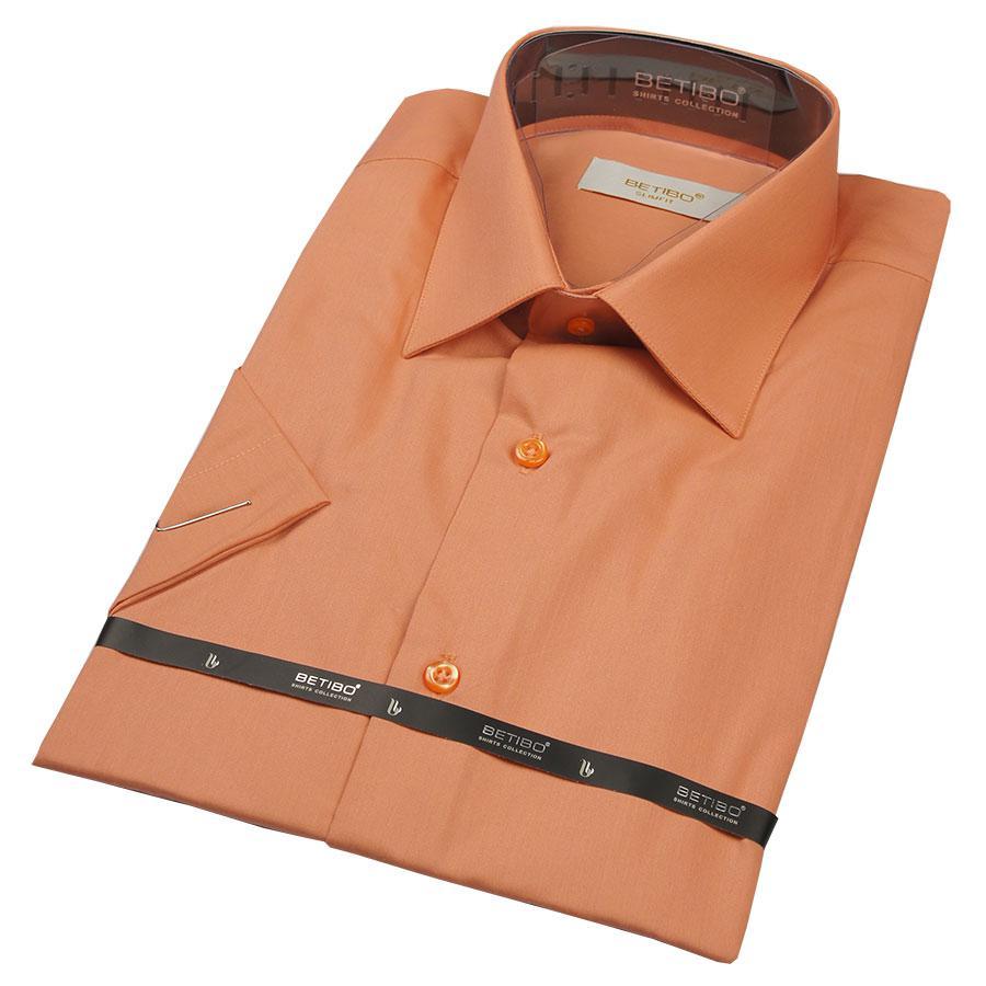 Рубашка мужская в оранжевом цвете Negredo 23002 Slim
