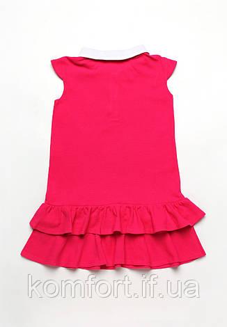 Платье для девочки из лакосты с волнами, фото 2