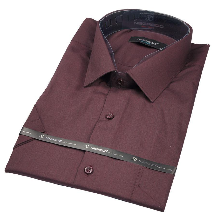 Рубашка Negredo 26073 Slim бордовая
